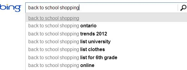 Back-to-school paid search
