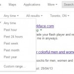 Date Filter Tool in Google Search - Search Engine Marketing Toronto