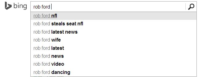 Bing Search Suggestions