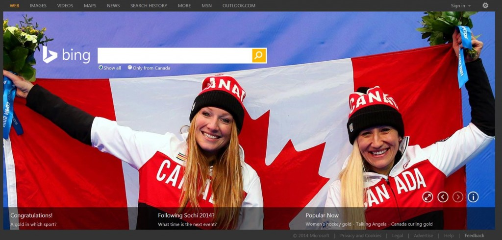 Bing Canada celebrates women's bobsleigh gold medalists