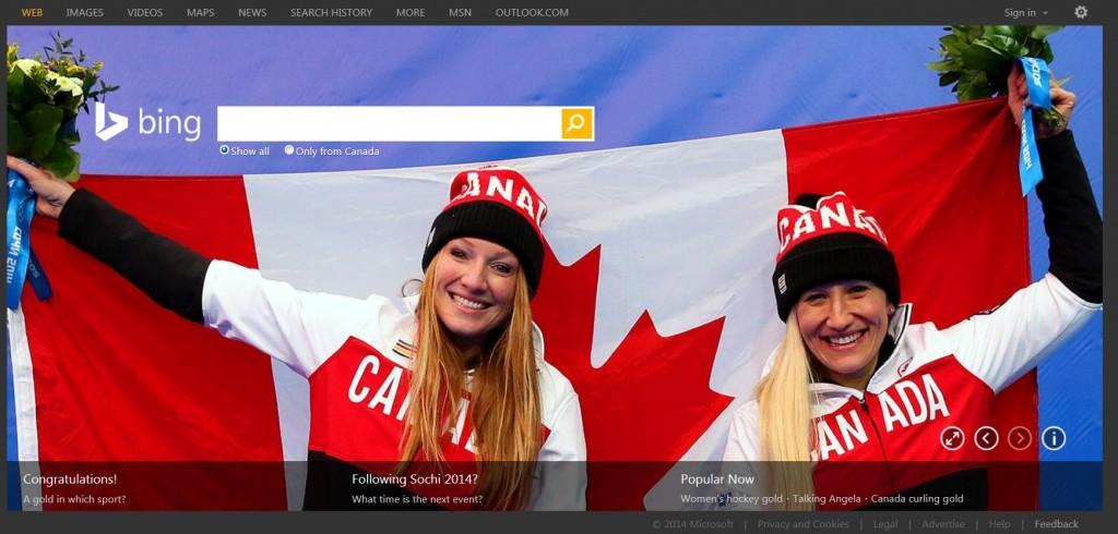 Bing Canada – Sochi 2014 Olympics – Team Canada – 1