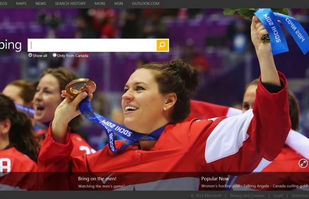 Bing Canada celebrates the women's hockey gold medalists